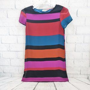 Fab' Rik Womens Tunic Striped Dress - Small